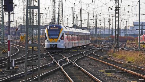 trein op rails voor interrail