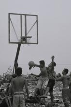 Manila kids playing basketball