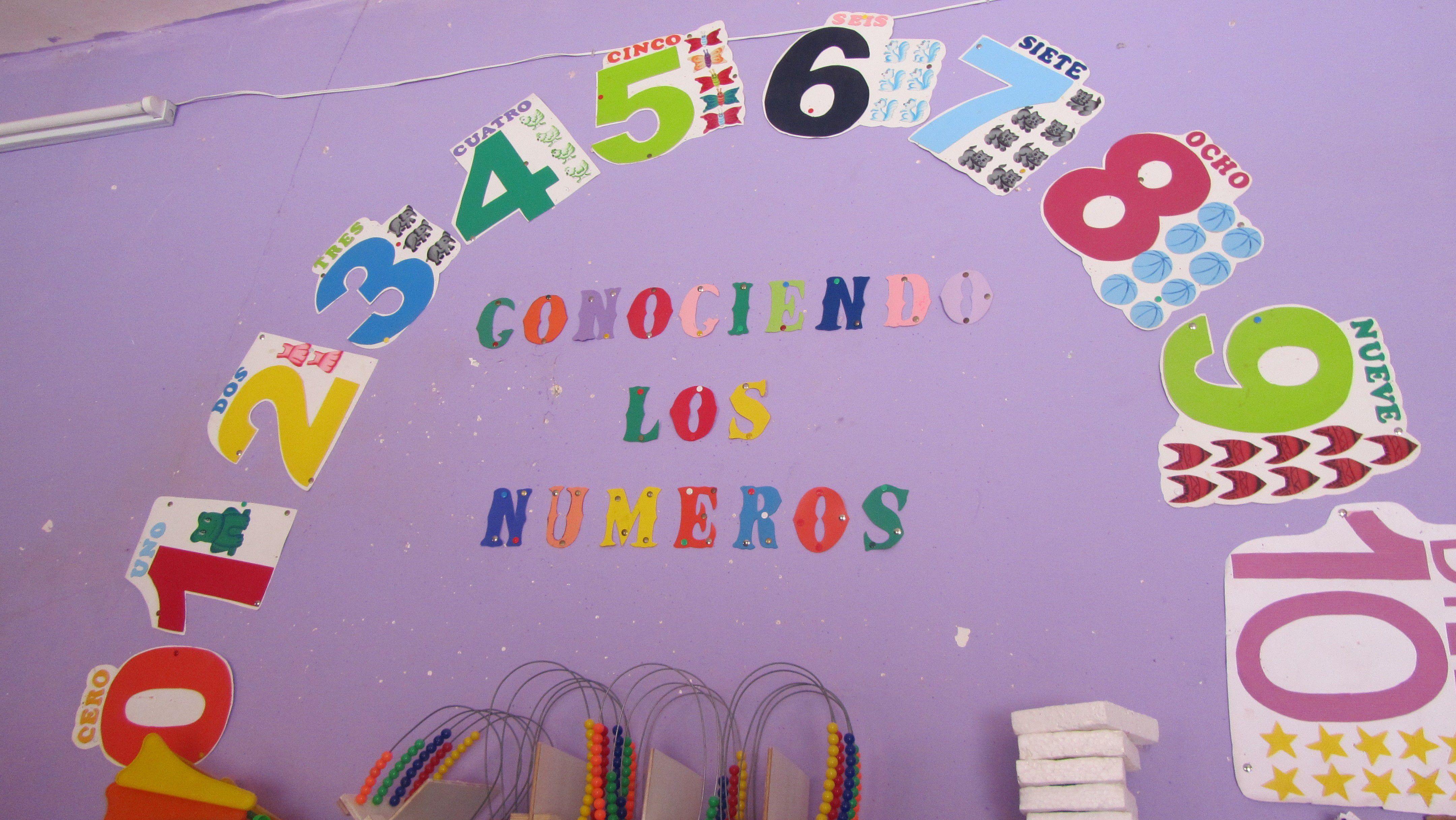 Niños aprenderon los números