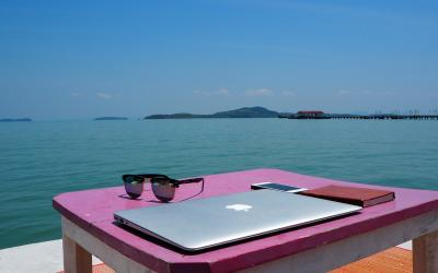 Working at the beach in Thailand