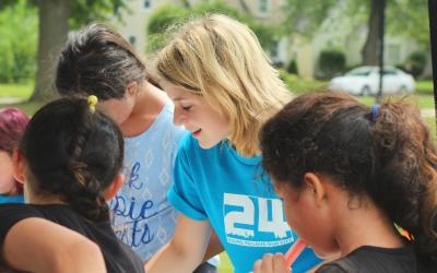 vrijwilligen met kinderen
