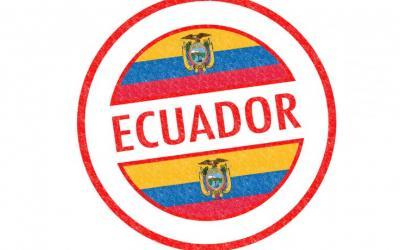 ecuador flag stamp