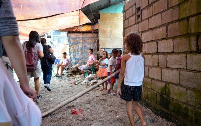 The slums in Manila